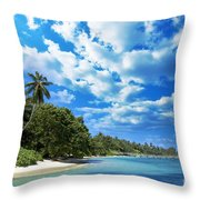 Coast Of Indian Ocean Throw Pillow