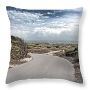 Coastal Bend Throw Pillow