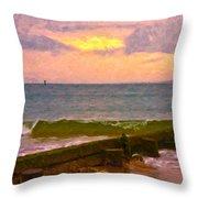 Coastal Climate Throw Pillow