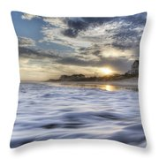 Coastal Currents Throw Pillow