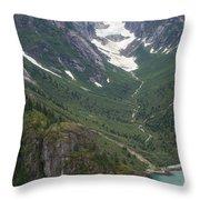 Coastal Flow Throw Pillow