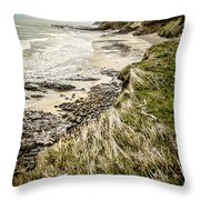 Coastal Grass Throw Pillow