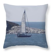 Coastal Newport Ri  Throw Pillow