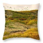Coastal Plants On Dunes Throw Pillow