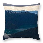 Coastal Range Fjords Throw Pillow