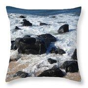 Coastal Rock Garden 2 Throw Pillow