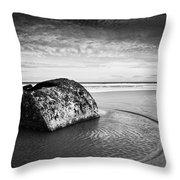 Coastal Scene Bw Throw Pillow