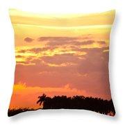 Coastal Sunset Boynton Beach Florida Throw Pillow