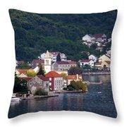 Coastal Town Of Montenegro Throw Pillow
