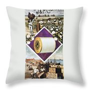 Coats Thread, C1880 Throw Pillow