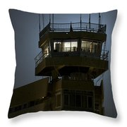 Cob Speicher Control Tower Throw Pillow by Terry Moore