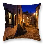 Cobblestone Road, North Yorkshire Throw Pillow by John Short