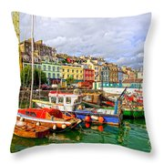 Cobh Town In Ireland Throw Pillow
