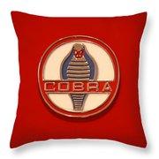 Cobra Emblem Throw Pillow by Mike McGlothlen