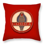 Cobra Emblem Throw Pillow