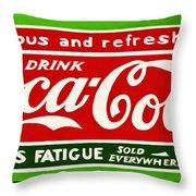 Coca-cola  Relieves Fatigue Throw Pillow
