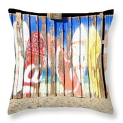 Coca Cola Surfing Throw Pillow