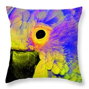 Cockatoo Of A Different Color Throw Pillow