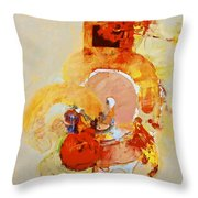 Cocks Comb And Brush Throw Pillow