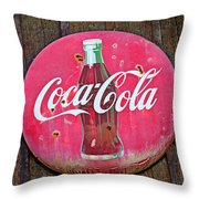 Coco Cola Sign Throw Pillow by Garry Gay