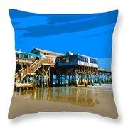 Cocoa Beach Pier  Throw Pillow