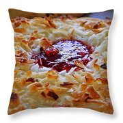 Coconut Cookie  Throw Pillow