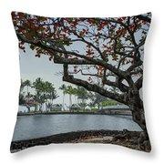 Coconut Island In Hilo Bay Hawaii Throw Pillow