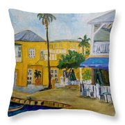 Coconut Tree In The Middle Throw Pillow