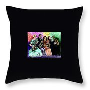 Coed Sax Section Throw Pillow