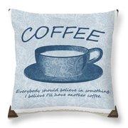 Coffee 1 Scrapbook Throw Pillow