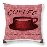 Coffee 2 Scrapbook Throw Pillow
