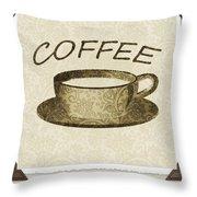 Coffee 3-2 Scrapbook Throw Pillow