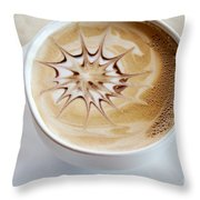 Coffee Art Throw Pillow by Kim Fearheiley