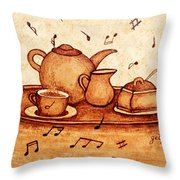 Coffee Break 2 Coffee Painting Throw Pillow