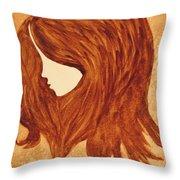 Coffee Break Coffee Painting Throw Pillow
