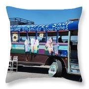 Coffee Bus Throw Pillow