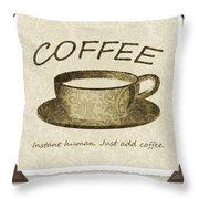 Coffee Cup 3 Scrapbook Throw Pillow
