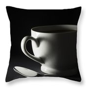 Coffee Cup Heart 2 A Throw Pillow