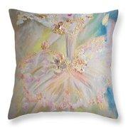Coffee Fairy Throw Pillow