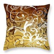 Coffee Flowers 1 Calypso Throw Pillow