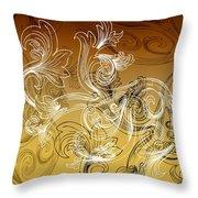 Coffee Flowers 2 Calypso Throw Pillow