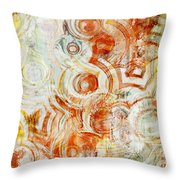 Coffee Rings Abstract Throw Pillow