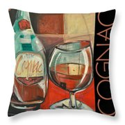 Cognac Poster Throw Pillow