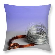 Coiled Wires Throw Pillow
