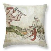 coinage - Gothic mural Throw Pillow