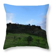 Cojitambo Ecuador Inca Ruins Throw Pillow