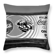 Coke At The Pier Throw Pillow