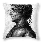 Cola Di Rienzo (1313-1354) Throw Pillow