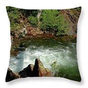 Cold Creek Waters Glen Alpine Creek Throw Pillow