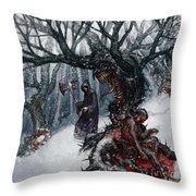 Cold Day To Die Throw Pillow